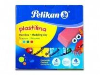 PLASTILINA PELIKAN x4 454g COMUNES