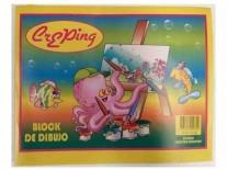 BLOCK DIBUJO ESCOLAR BLANCO N6 CREPING