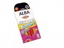 CRAYONES ALBA FANT GLITTER X6