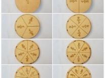 JUEGOS DIDACTICOS FRACCIONES PIZZA 16cm
