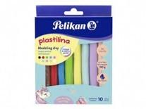 PLASTILINA PELIKAN x10 180g PASTELES