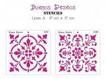 STENCIL BS A/CUADRADO 17x17CM