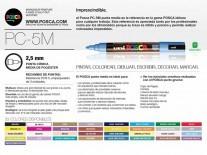 MARCADOR POSCA 5mm AMARILLO