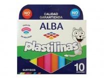 PLASTILINA ALBA SURTIDAS x10 unidades