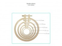 BASTIDOR BORDADO PLASTICO 20.5 cm