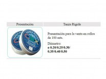 TANZA RIGIDA  0.30 x100MT