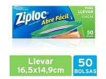 ZIPLOC BLOSA LLEVAR CHICA 50 UN