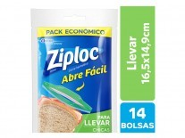 ZIPLOC BOLSA LLEVAR CHICA 14 UN