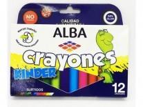 CRAYONES ALBA KINDER x12