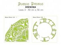 STENCIL BD D/CUADRADO 30x32cm